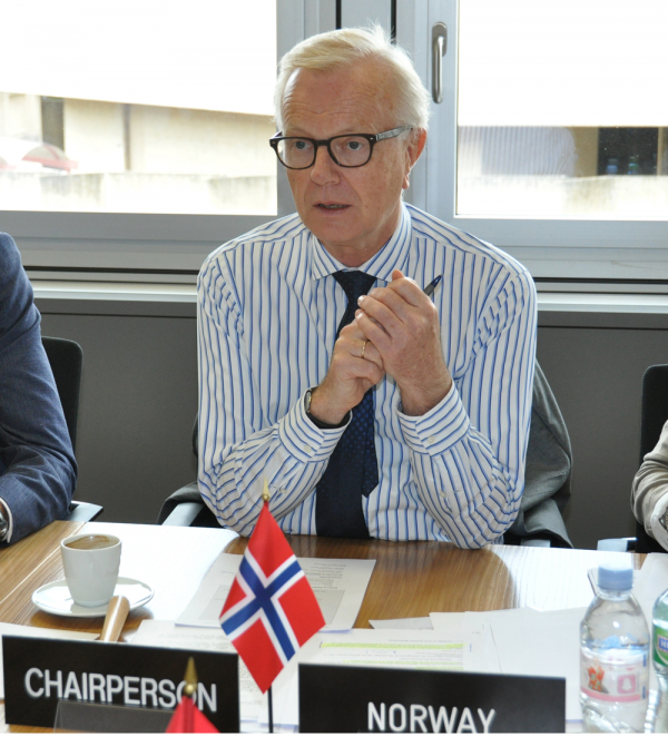 Today's meeting was the last under the chairmanship of Norwegian Ambassador Harald Neple.