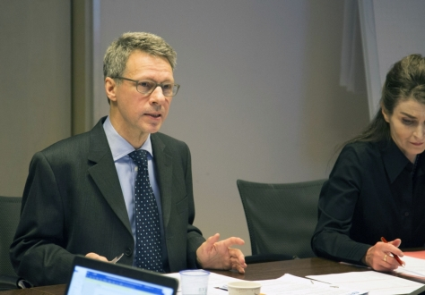 The Chair, Dr.-Ing. Michael Nitsche from BAM Federal Institute for Materials Research and Testing alongside Frédérique Laudinet, Secretary of the EA Advisory Board.