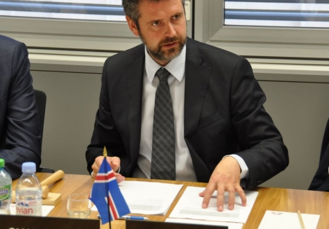 Ambassador Martin Eyjólfsson, Permanent Mission of Iceland to the International Organizations  in Geneva.