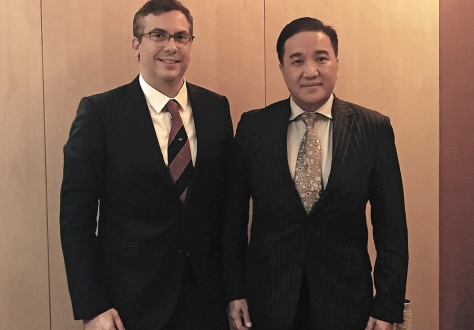 Spokesperson the EFTA States, Mr Pascal Schafhauser and Head of the Mongolian Delegation, Dr Vorshilov Enkhbold met in Ulaanbaatar for the second Joint Committee meeting.
