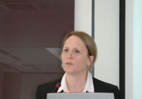 Ásta Magnúsdóttir, Director, Services, Capital, Persons & Programmes Division, EFTA, giving her presentation.