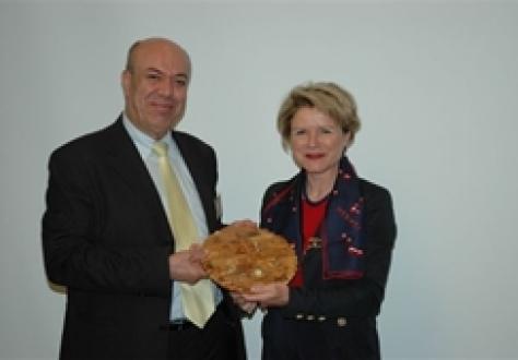 Mr Ziad Toame and Ambassador Marie-Gabrielle Ineichen-Fleisch.