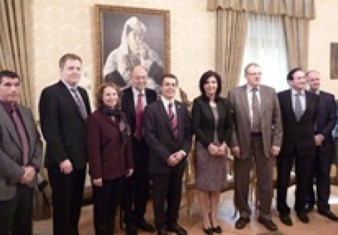 Part of the EFTA Parliamentary delegation with Ms Jozefina Topalli, Speaker of the Albanian Parliament