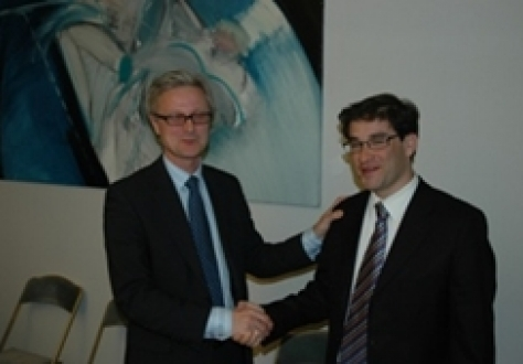 Erik Andreas Underland, Chief Negotiator, Ministry of Trade and Industry, Norway, and Rodrigo Contreras, Director of Economic Bilateral Relations in the Ministry of Foreign Affairs, Chilea.