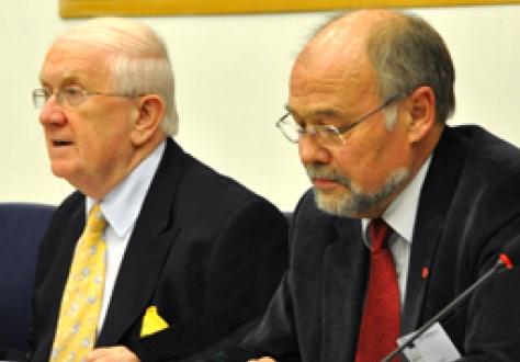 Mr Pat the Cape Gallagher (ALDE, Ireland), Vice-Chair, JPC, and Mr Svein Roald Hansen (Labour Party, Norway), Chair, JPC (Photo: Lars Hagberg)