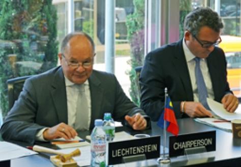 Ambassador Norbert Frick and Peter Matt