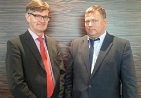 EFTA Spokesperson Mr Jan Farberg and RuBeKa Spokesperson Mr Maxim Medvedkov.