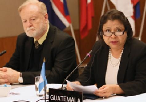 María Luisa Flores, Vice-Minister of Economy of Guatemala and Eduardo Sperisen-Yurt, Ambassador, Permanent Representative of Guatemala to the WTO