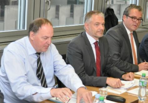 From left: Secretary-General Kristinn F. Árnason, Director Aðalsteinn Leifsson, Secretary to the Council and Ambassador Peter Matt of Liechtenstein, Chair of the EFTA Council.