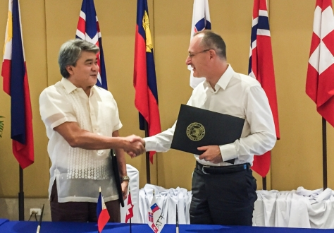 Undersecretary Adrian S. Cristobal Jr, the Philippines (left), and Ambassador Didier Chambovey, EFTA Spokesperson