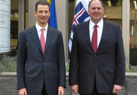 Hereditary Prince Alois of Liechtenstein and Secretary-General of EFTA Kristinn F. Árnasonn