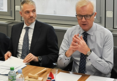 Ambassador Harald Neple (Chair), Mission of Norway to EFTA and the WTO (right), and Adalsteinn Leifsson, Director, EFTA Secretariat.
