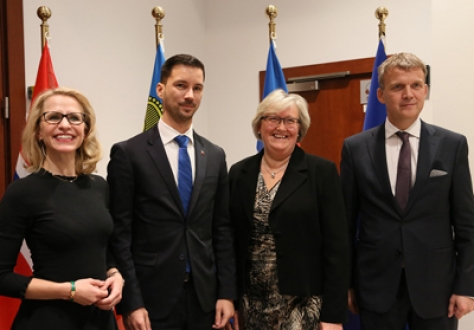 From left: Ms Aurelia Frick, Minister of Foreign Affairs, Liechtenstein; Mr Lukas Parizek, Secretary of State of the Ministry of Foreign and European Affairs, Slovak Republic; Ms Elisabeth Vik Aspaker, Minister of EEA and EU Affairs, Norway; Mr Stefán Haukur Jóhannesson, Permanent Secretary of State, Ministry for Foreign Affairs, Iceland.