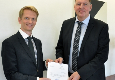 The new Icelandic Ambassador Mr Harald Aspelund met with Secretary-General Kristinn F. Árnason in Geneva.