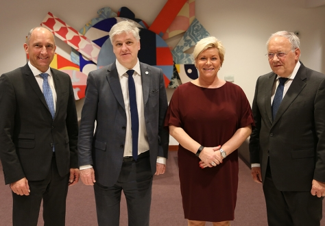 From left: Adrian Hasler, Prime Minister and Minister of Finance of Liechtenstein, Benedikt Jóhannesson, Minister of Finance and Economic Affairs of Iceland, Siv Jensen, Minister for Finance of Norway, Johann N. Schneider-Ammann, Federal Councillor, Head of Economic Affairs, Education and Research of Switzerland.
