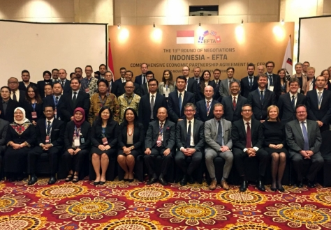 The negotiations between the EFTA States and Indonesia on a Comprehensive Economic Partnership Agreement (CEPA) took place in Jakarta from 6 to 10 November 2017.