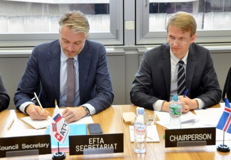 Ambassador Harald Aspelund chaired the meeting for Iceland.