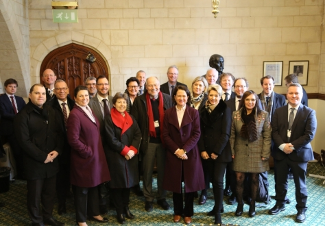 EFTA parliamentarians with Catherine West of the International Trade Committee.