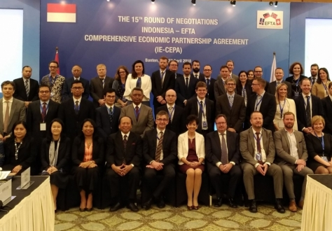 Delegations of EFTA and Indonesia met in Banten (Jakarta) for the 15th round of negotiations.