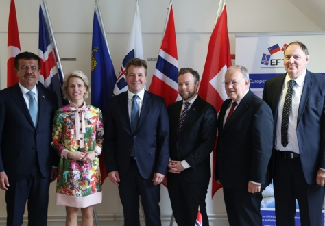 From the signing of the EFTA-Turkey free trade agreement in Sauðárkrókur, Iceland, on 25 June 2018.