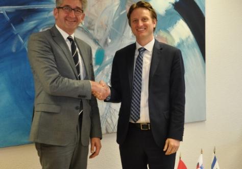 Swiss Ambassador Markus Schlagenhof and director Daniel Kolbar.