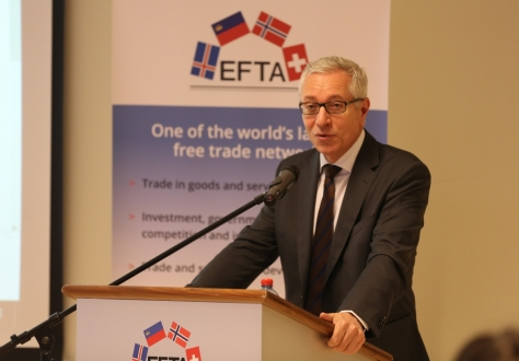 EFTA Secretary-General, Henri Gétaz