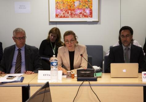 From left: EFTA Secretary General, Henri Gétaz, EEA EFTA Chair, Ambassador Sabine Monauni and Deputy Permanent Representative of Liechtenstein, Stefan Barriga