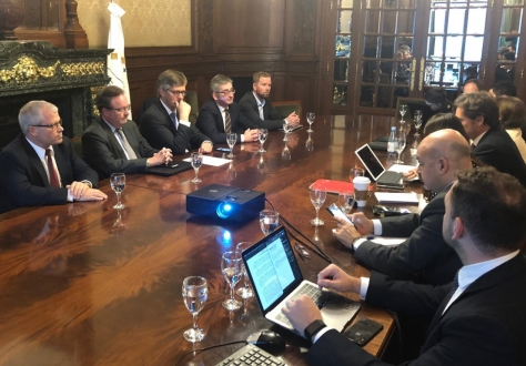 Delegations of EFTA and Mercosur in Buenos Aires.
