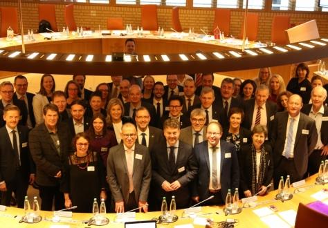 Delegates of the EEA Joint Parliamentary Committee in the Landtag in Vaduz, Liechtenstein.