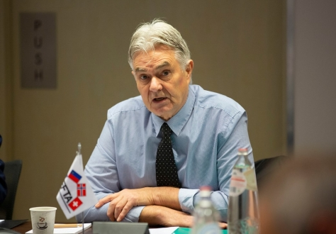 Halldór Grönvold, chairing a meeting of the EFTA Consultative Committee on 19 November 2019.