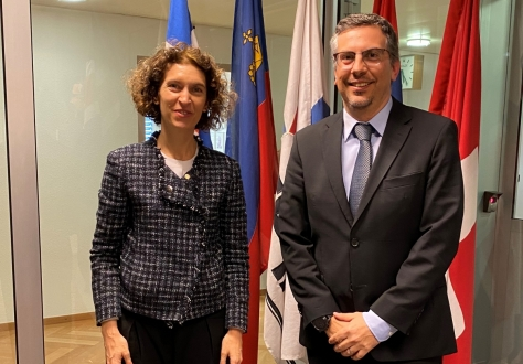 The Andorran Minister of Foreign Affairs, Maria Ubach Font, visited the EFTA Secretariat in Geneva and met with Deputy Secretary-General Pascal Schafhauser.
