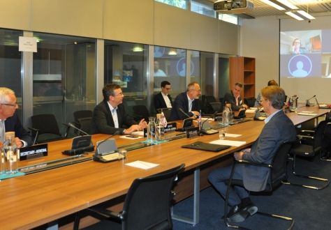 The meeting was chaired by Didier Chambovey, Switzerland (centered).