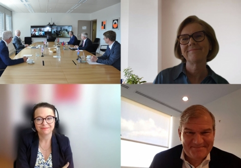 The EFTA Council meeting met partly online and in the Geneva offices.