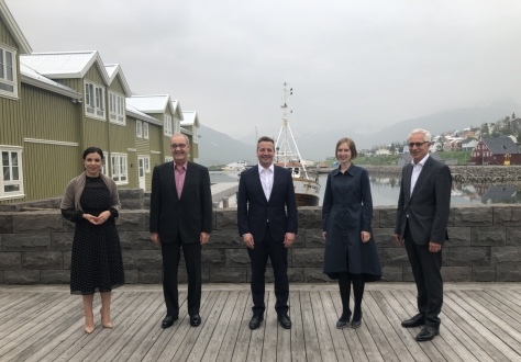 From left: Dominique Hasler, Liechtenstein; Guy Parmelin, Switzerland; Guðlaugur Þór Þórðarson, Iceland (Chair); Iselin Nybø, Norway; Henri Gétaz, EFTA Secretary-General.