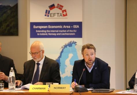 Torbjørn Røe Isaksen at EFTA 20 November 2019