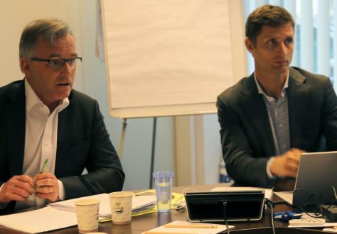 The Chair of the Working Group on Energy Matters, Johan Vetlesen and Senior Officer in EFTA Goods Division, Niels Bekkhus.