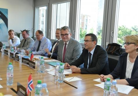 The meeting was chaired by Liechtenstein Ambassador Peter Matt (center of the picture)