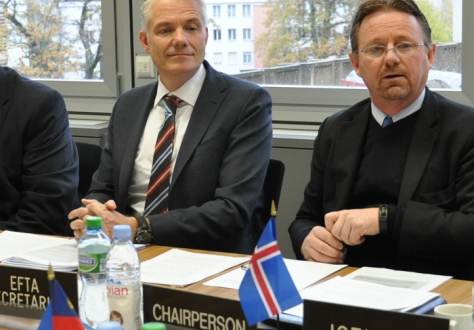 From left: Mr Adalsteinn Leifsson, Director, Secretary-Generals Office, EFTA, Mr Högni Kristjánsson, Head of Iceland's Mission to the International Organizations in Geneva