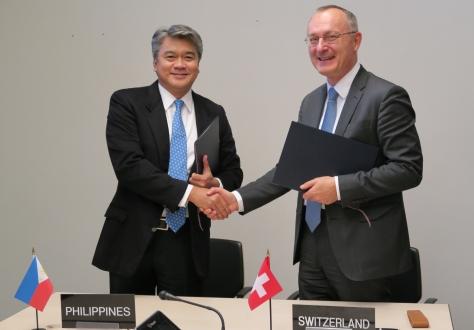 Undersecretary Adrian S. Cristobal Jr., spokesperson for the Philippines and Ambassador Didier Chambovey, spokesperson for EFTA