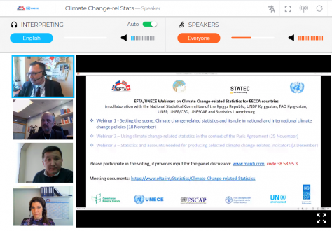 ESO webinar on climate change-related statistics
