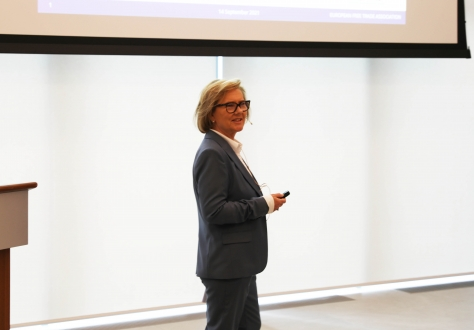 Deputy Secretary-General Hege Marie Hoff kicked of the seminar and introduced the EEA Agreement to the attendees.