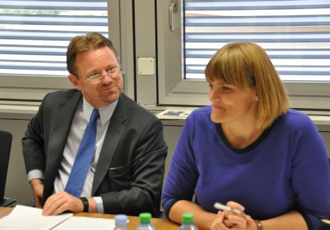 Ambassador Högni Kristjánsson and Deputy Head Nína Björk Jónsdóttir, Permanent Mission of Iceland to the International Organizations in Geneva.