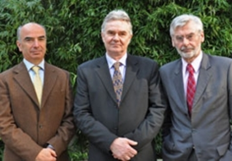 From left: Gianluca Grippa, European External Action Service, Halldór Grönvold (Chair), Icelandic Confederation of Labour, and Michael Emerson, CEPS