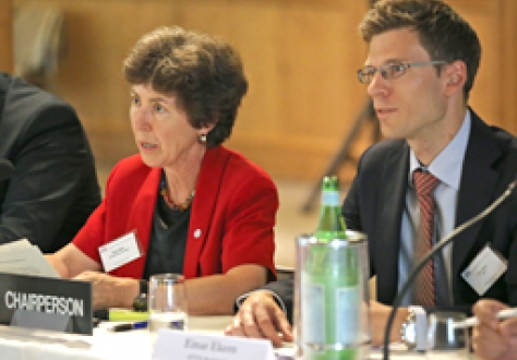 Kathy Riklin, Christian Democratic Party, Switzerland, Chair of the Committee of Members of Parliament of the EFTA Countries; and Einar Ekern, EFTA Secretariat