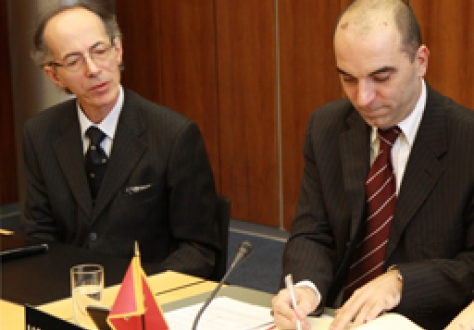 From left to right: Mr Ljubiša Perović, Ambassador, Permanent Mission of Montenegro, Geneva, and Mr Vladimir Kavarić, Minister of Economy, Montenegro