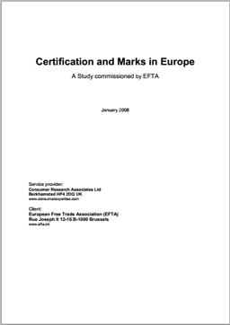 EFTA Study on Certification and Marks in Europe - Full Report